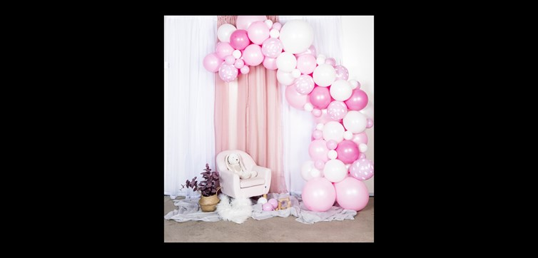 Balloon arch kit light pink