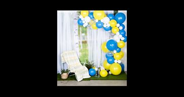 Balloon arch kit blue/yellow