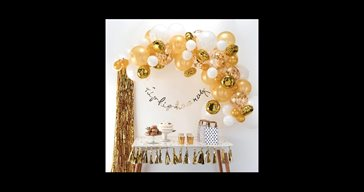 Balloon arch kit gold