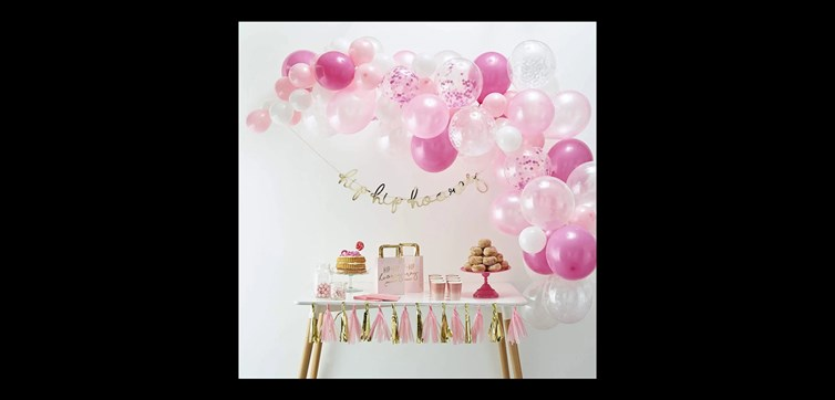Balloon arch kit pink