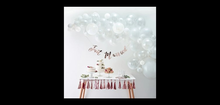 Balloon arch kit white and confetti