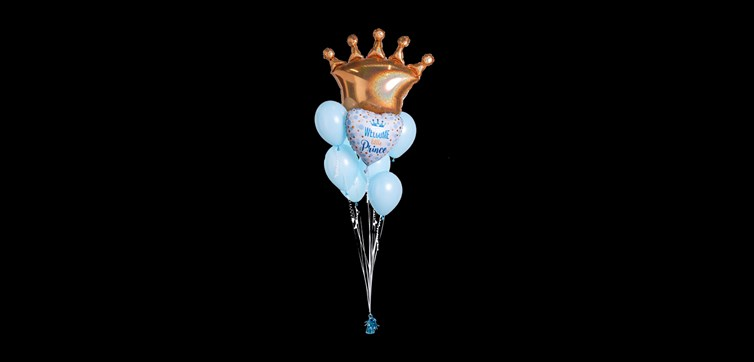 Balloon bouquet Baby shower Blue