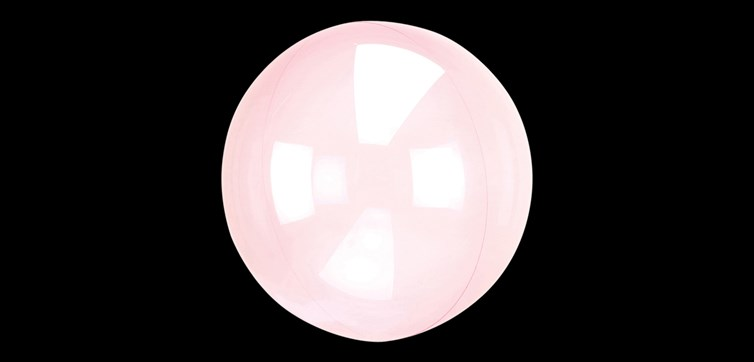 Crystal Clearz balloon pink