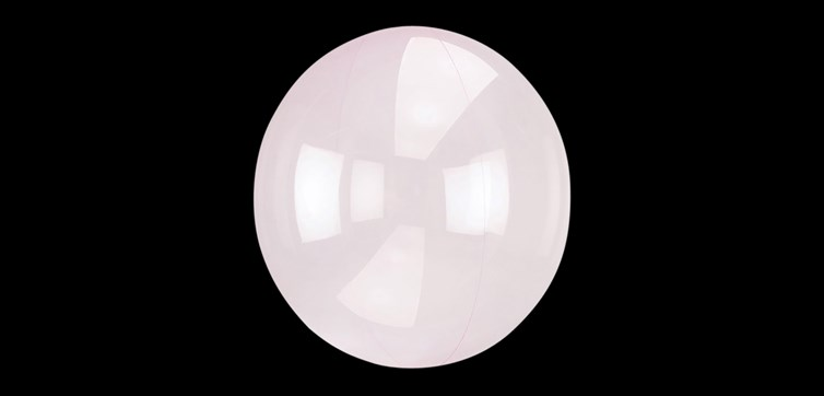 Crystal Clearz balloon light pink