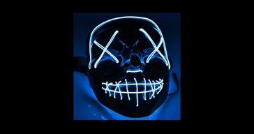 El Wire Purge Blue Led mask