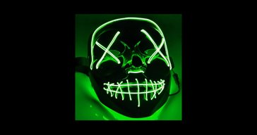 El Wire Purge Green Led mask