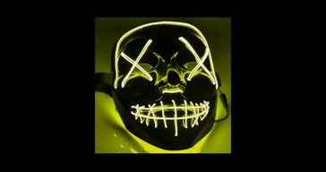 El Wire Purge Led mask Gul