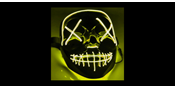 El Wire Purge Yellow Led mask