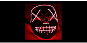 El Wire Purge Red Led mask