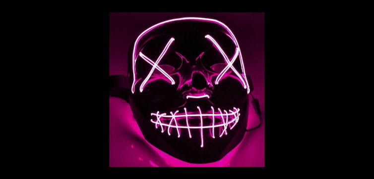 El Wire Purge Pink Led mask