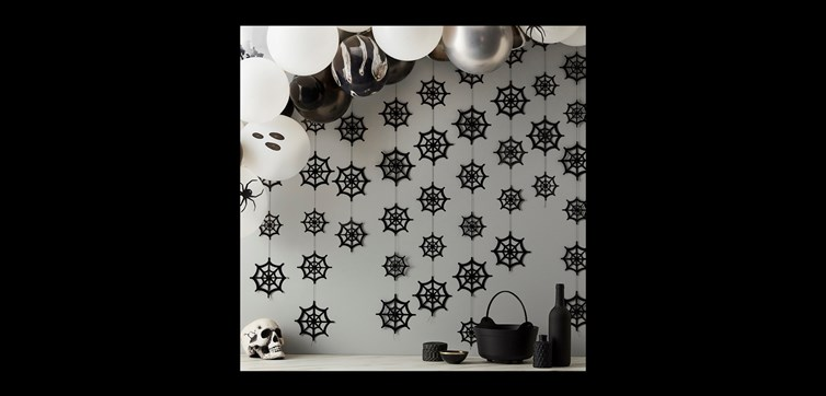 Cobweb Halloween backdrop decoration