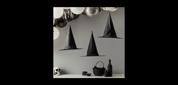 Halloween witch hat hanging decorations