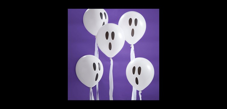 Ghost Halloween streamer balloons