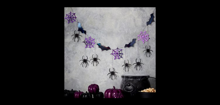Halloween Spider web and Bat bunting