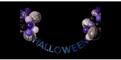Halloween bunting and balloons decoration