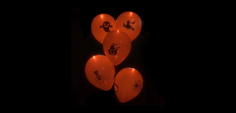 Led ballonger Halloween Orange