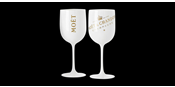 Moët glasses with printing