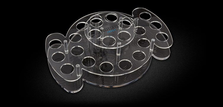 Custom made shot trays