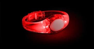 LED Audio Bracelet Red