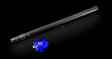 Electrical Confetti Cannon 80 cm Blue Metallic