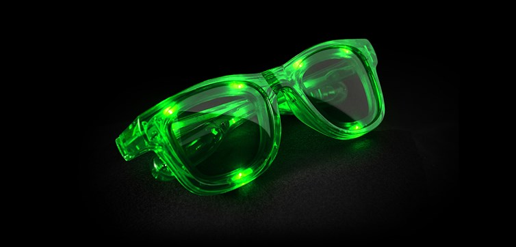 LED Glasses Green