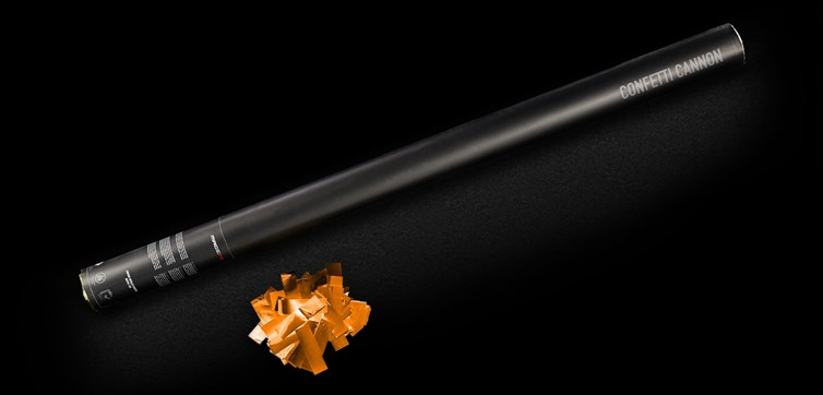 Confetti cannon 80 cm Orange Metallic