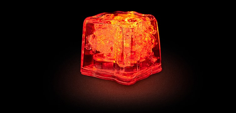LED Ice cubes Red