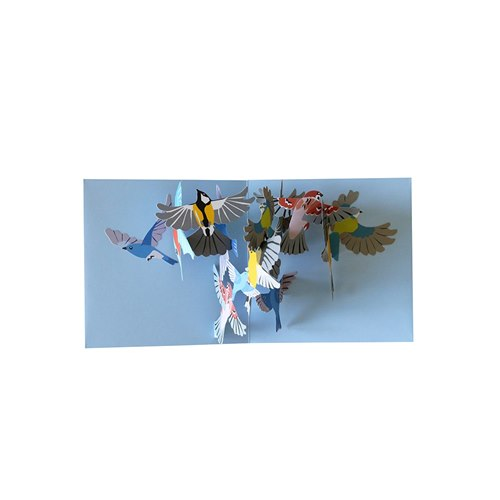 Kort Pop-upkort Småfåglar