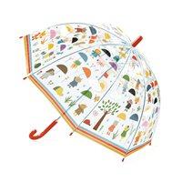 Paraply, Ute i regnet