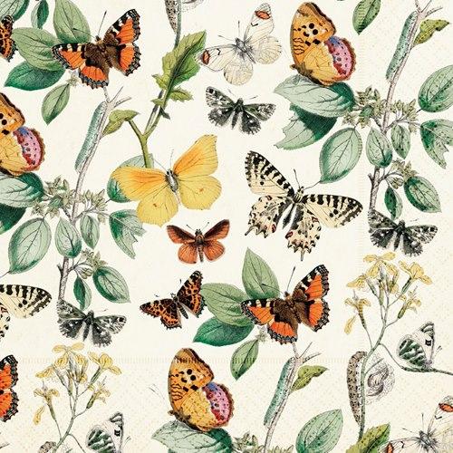 Paper napkins Butterflies vintage