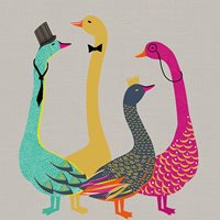 Bow Tie Geese