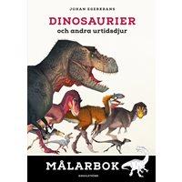 Dinosaurier och andra urtidsdjur - målarbok
