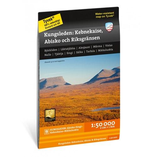 Karta, Kungsleden: Kebnekaise, Abisko & Riksgränsen 1:50.000
