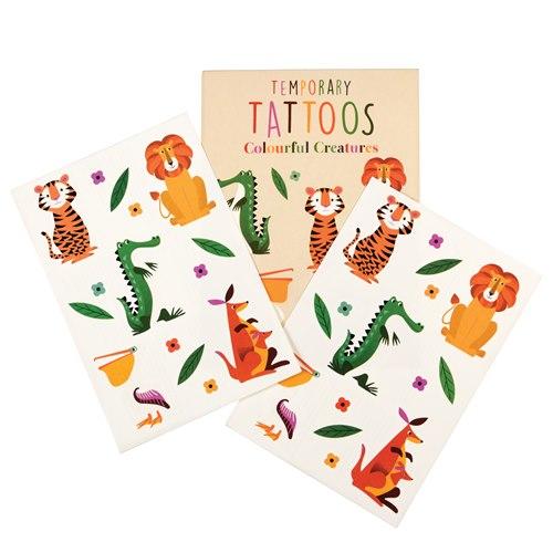 Tatuering, Färgglada djur