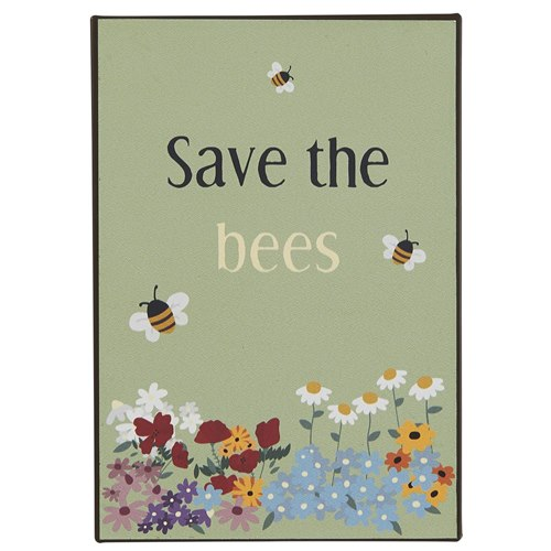 Metallskylt Save the Bees