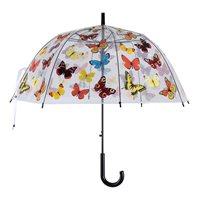 Paraply Fjärilar, transparent