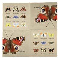 Servett Fjärilar, beige