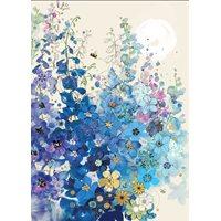 Kort blå blomster