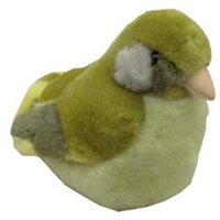 Singing Soft toy - European Greenfinch