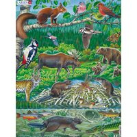 Puzzel Nordic Animals 1, Maxi 45 pieces