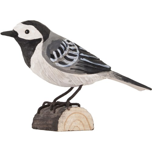 Pied Wagtail Wood Carving