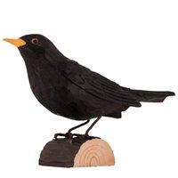 Blackbird Wood Carving