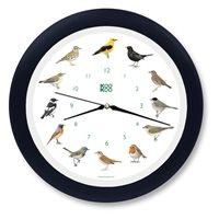 KooKoo väggklocka sångfågel svart plast