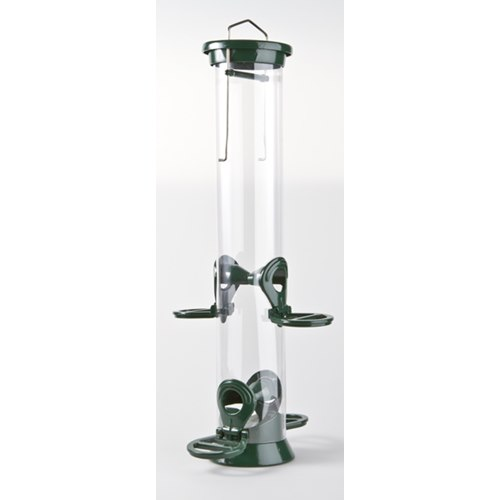 Seed feeder in metal, 35 cm, 4 holes