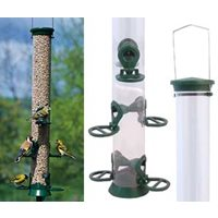 Seed feeder in metal, 53 cm, 6 holes