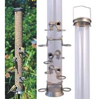 Seed feeder in metal, 90 cm, 10 holes