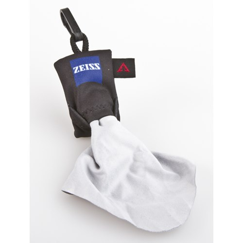 Spudz/Zeiss. Microfiber Cloth in a small case with hook