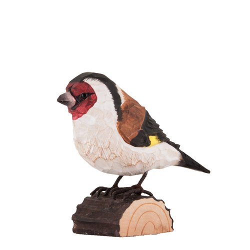 European Goldfinch Wood Carving