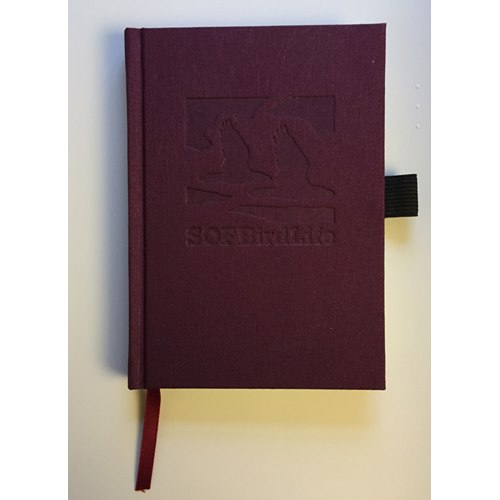 Notebook A6 (slim) Purple with Birdlife logo