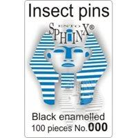 Insect Pins Black No 000